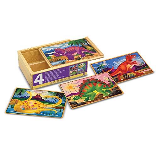 Melissa & Doug - 13791 - 4 Puzzle in Legno - Dinosauri