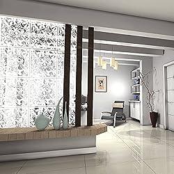 Kernorv White DIY Raumteiler Bildschirm aus umweltfreundlichem PVC, 12 PCS Einfache und moderne Hängeleinwand für Dekorieren, Essen, Studieren, Sitzecke, Hotel, Bar und Schule
