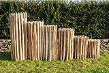 Staketenzaun Haselnuss Höhen 50 cm - 120 cm, Länge 5 Meter, Lattenabstände 3-5 cm und 7-9 cm (Länge x Höhe: 500 x 50 cm, Lattenabstand 3-5 cm)