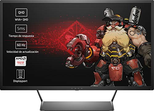 HP OMEN 32 - Monitor Gaming de 32' WVA+ (2560 x 1440 a 60 Hz), Color Negro