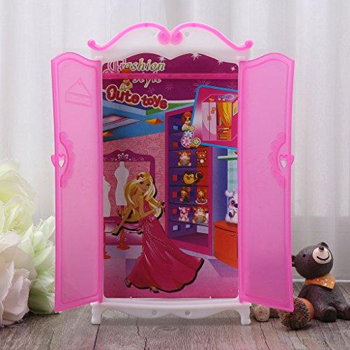 Vivianu Barbie - Armadio per bambole Barbie Fashionista per bambole Barbie, da collezione, per...