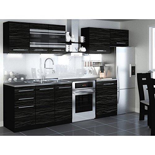JUSThome Torino I LED Cocina completa 300 cm Modelo de manija II