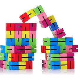 9 Pezzi Blocchi di Sicurezza Mini Fidget Puzzle Flessibili in Legno Puzzle di Fidget Estensibile per
