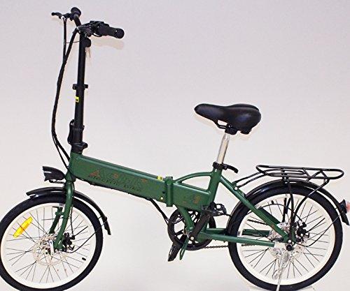 Vlo-lectrique-pliable-couleur-Vert-Militaire-Moteur-250W-Vitesse-25kmh