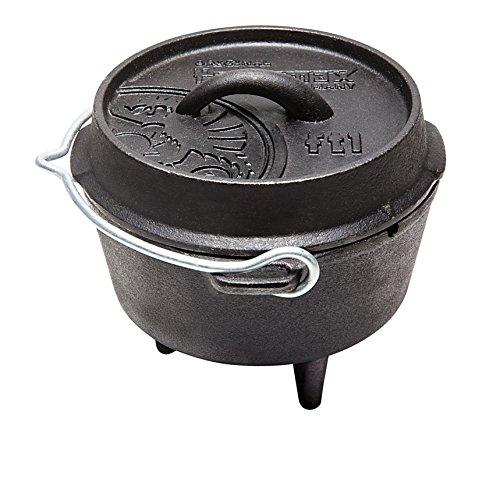 Petromax pentola per il fuoco ft1senza piedini, fondo piatto (forno olandese)