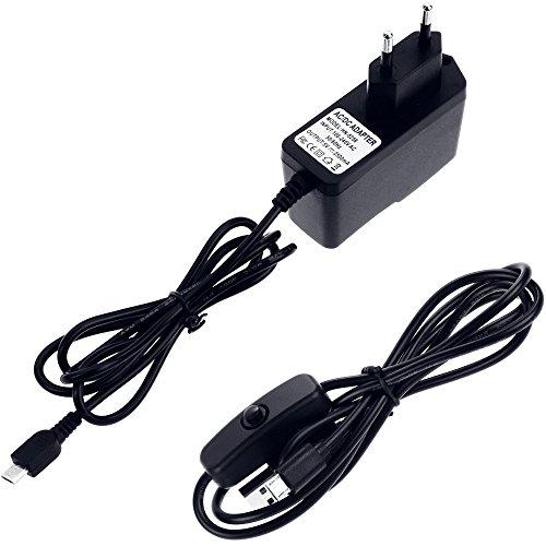 5182URAcysL - Zacro 5-EN-1 Kit para Raspberry Pi 3 y 2, Caja de 9 Capas de Refrigeración + Mini Fan con 4 Tornillos+ USB Cable Encendido + 3 Disipador de Calor + USB Cable Cargador