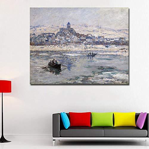 RTCKF Famoso Pittore Monet Pittura Astratta Stampa Art Poster Camera da Letto casa Soggiorno...
