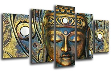 Cuadro Fotográfico Buda, Buddha, Relajacion, Zen, Meditacion, Relax Tamaño total: 165 x 62 cm XXL 3