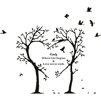 Download Wall Sticker, Innovative Family Words Heart-Shaped Tree ...