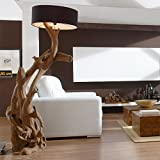 Standlampe Teak Wurzelholz Stehlampe Holz Treibholz