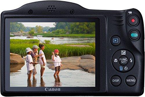 """Canon PowerShot SX410 IS - Cámara compacta de 20 Mp (pantalla de 3"""", zoom óptico 40x/80x, estabilizador óptico, grabación de vídeo HD), negro"""
