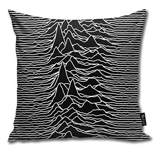 QMS CONTRACTING LIMITED Throw Pillow Cover Joy Division Unknown Pleasures Decorative Pillow Case...