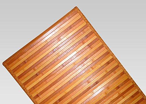 BIANCHERIAWEB Tappeto Bamboo Degradè 55x290 cm Arancio