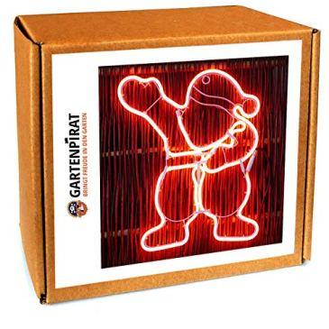 Silhouette Père Noël en tube lumineux 47 x 40 cm en néon 360 LED – Décoration de Noël originale – Usage extérieur