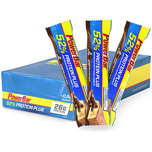 PowerBar ProteinPlus 52% - Nutrición deportiva - Chocolate Nuts 24 x 50g marrón/azul 2017