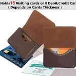 Storite Pocket Sized Stitched Leather Credit Debit Visiting Card Holder (Coffee Brown) 19