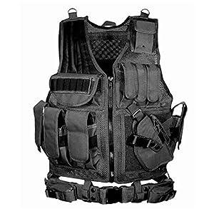 Chaleco táctico simulado, Juego de Batalla de Toy Toy Gun SWAT Equipo Realista cómodo Puede ser Equipado Clips de Bala Walkie-Talkie, para Adulto Masculino/Femenino