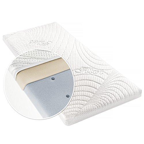 Alvi materasso per culla TENCEL & Dry - 90 x 40 cm   fodera con protezione umidità   canali di...