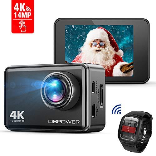 DBPOWER EX7000 Action Camera Touchscreen 4K Ultra-HD 14MP Wi-Fi, Telecamera Sport Impermeabile Fino...