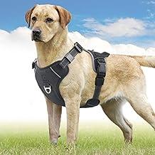 Idefair Arnés para Perro tirones, Ajustable y Suave, Malla de Aire, arnés Reflectante Transpirable Ligero para Perros pequeños, medianos y Grandes