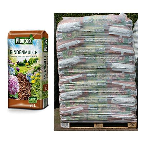 Plantop 20 Sack Rindenmulch á 70 Liter = 1400 Liter Mulch in Gärtnerqualität