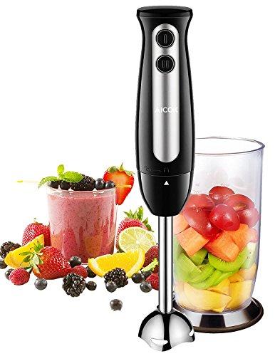 Frullatore ad Immersione, Aicok Minipimer Mixer Immersione Professionale con Turbo, 700ml Bicchiere...