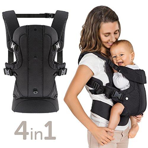 Marsupio Neonato Ergonomico / Porta Bebè 4in1 - Frontale, Schiena, Fronte Strada - variabile,...