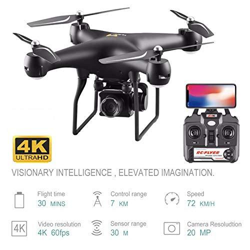 Drone 4K Telecamera Rotante Quadricottero HD Fotografia Aerea Pressione dell'Aria Librarsi su Un Volo di Atterraggio Chiave 20 Minuti Elicotteri RC