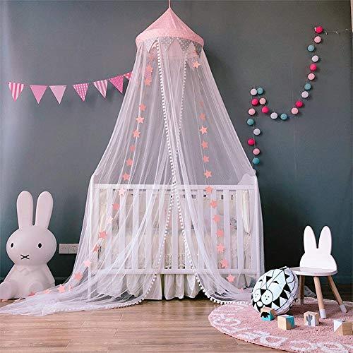SUNSETGLOW Redondo de mosquitero Princesa de Encaje Cortina Cúpula Cama Canopy Netting