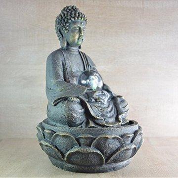 Zen Luz SCFR 8G Buddha Fuente Meditación Gran Interior Marrón Oscuro/Chocolate 21 x 21 x 30 cm 8