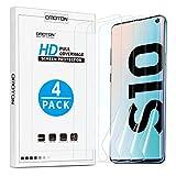 OMOTON [4 Stück] TPU Display Schutzfolie für Samsung Galaxy S10, Hüllefreundlich, Ultra-dünn, Anti-Fingerabdruck, Anti-Schmutz, Anti-Reflex, Hoch Transparenz