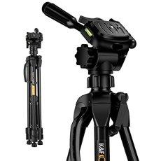 K&F Concept TL2023 Trípode Viaje Ligero para Cámara Réflex Canon Sony Nikon Fuji con Cabeza de Bola Placa de Liberación Rápida