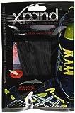 Xpand Lacets de chaussures élastiques, plats, avec tension réglable, sans nœud, compatibles avec toutes les chaussures - Noir - Noir , Taille unique EU