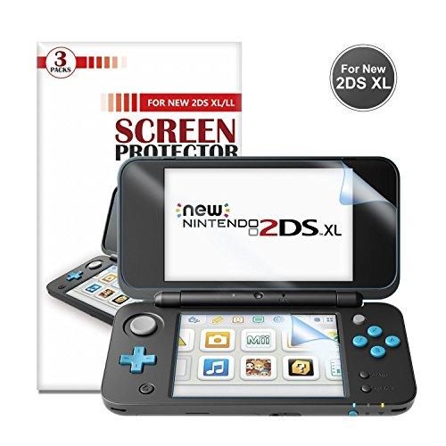 Pellicola Protettiva per New Nintendo 2DS XL (3 confezioni) - Younik pellicola ultra trasparente HD 0.125mm/4H per Nintendo New 2DS XL 2017