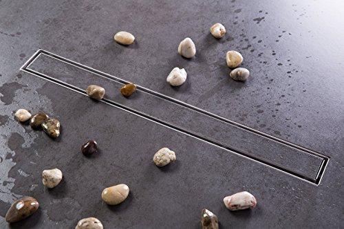 Duschrinne Siphon 60cm Edelstahl Ablaufrinne Geruchsstop Bodenablauf Duschablauf Bodenbefestigung Maße von 50 bis 100cm wählar