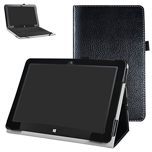 "Insignia Flex NS-P10W8100 / NS-P10A8100K Case,Mama Mouth PU Leather Folio 2-Folding Stand Cover for 10.1"" Insignia Flex NS-P10W8100 / NS-P10A8100K Android Tablet,Black"
