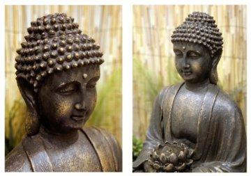 Ambiente Fuente de Jardín Buda en Meditación 5