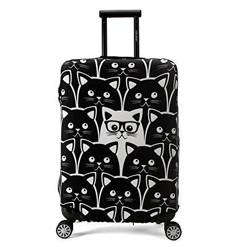 Maddy's Home Elastica Suitcase Cover Proteggi bagagli luggage Cover,Pop Gatto (XL (Fit 29'-32'...