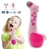 Micrófono Karaoke Inalámbrico para Niños por Termichy, Bluetooth Altavoz Portatil para Escuchar Música Cantando en Cualquier Momento (Rosa)