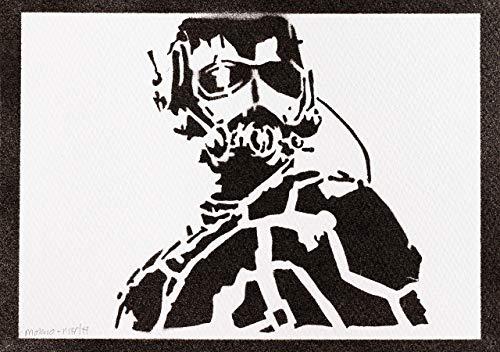 Póster Ant-Man Los Vengadores Grafiti Hecho A Mano - Handmade Street Art - Artwork