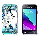 Funda Samsung Galaxy J1 mini prime Carcasa de Silicona Transparente TPU, Hermoso Dibujo en Relieve de Mariposas, Flexible -FUBAODA- Resistente a Los Arañazos en su Parte Trasera, Amortigua los Golpes, Funda Protectora Anti-golpes para Samsung Galaxy J1 mini prime