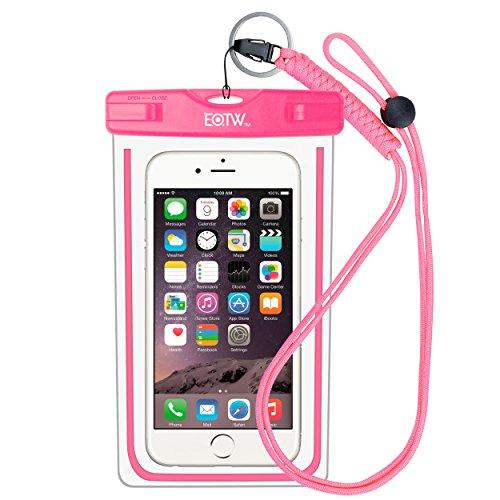 EOTW IPX8 Wasserdichte Tasche, Wasser- und staubdichte Hülle für Geld, Datenträger und Smartphones bis 15,24 cm (6 Zoll), Ideal für den Strand, Wassersport, fürs Radfahren, Angeln, usw. Pink …