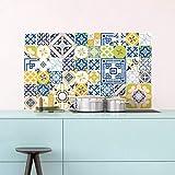 Ambiance-Live 60Pegatinas Adhesivos carrelages   Adhesivo Adhesivo Azulejos-Mosaico Azulejos de Pared de baño y Cocina   Azulejos Adhesiva-MULTICOULEUR-10x 10cm-60Piezas