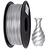 PLA Filament 1.75mm Silk Silver, GIANTARM Imprimante 3D Filament PLA 1kg Spool