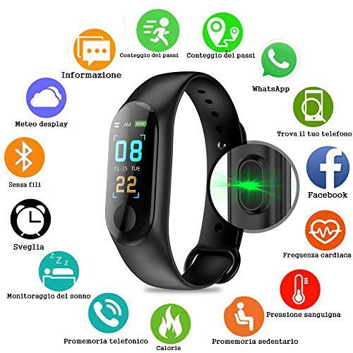 PAWACA Schermo a Colori Fitness Tracker, Activity Tracker con frequenza cardiaca/Sleep Monitor, IP67 Impermeabile pedometro Orologio con contatore di Calorie per Bambini Uomini e Donne, Android iOS
