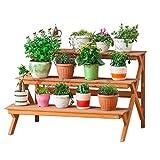 ACZZ Soporte de plantación de plantas con gradas Soporte de maceta para macetas Soporte de estante en maceta para interior Jardín al aire libre Patio Sala de estar Decoración de bonsáis Estante de ex