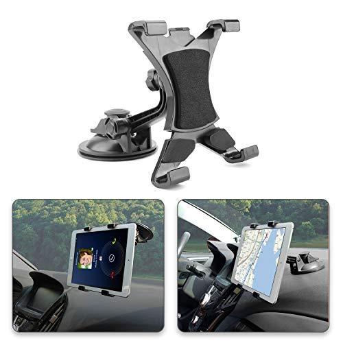POMILE Tablet Car Holder, Tablet Supporto auto Regolabile a 360 Gradi con Forte Ventosa da...