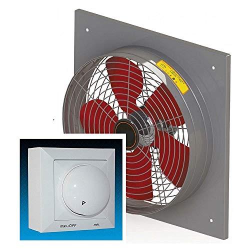 Ventilatore industriale da parete, 450mm, 5450m³/h, con 500W Regolatore di velocità,...