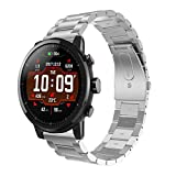 Tabcover for AMAZFIT smart sports orologio 2 Cinturino,22mm Replacement Stainless Steel orologio Strap for Xiaomi HUAMI AMAZFIT/HUAMI Amazfit Stratos Smart orologio 2/Xiaomi HUAMI AMAZFIT 2S