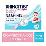 Rhinomer Baby - Recambios blandos desechables para Narhinel Confort aspirador nasal - 20 unidades